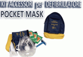 Kit pocket mask con acc.defibrillazione